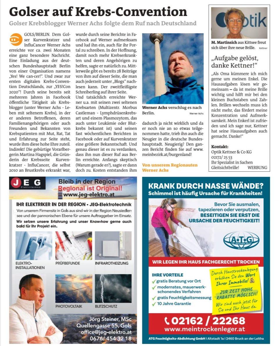 Yes We Cancer Werner Achs Alexander Greiner Martina Hagspiel Reise Nach Berlin Zu Yes We Cancer Yes Con Krebsconvention