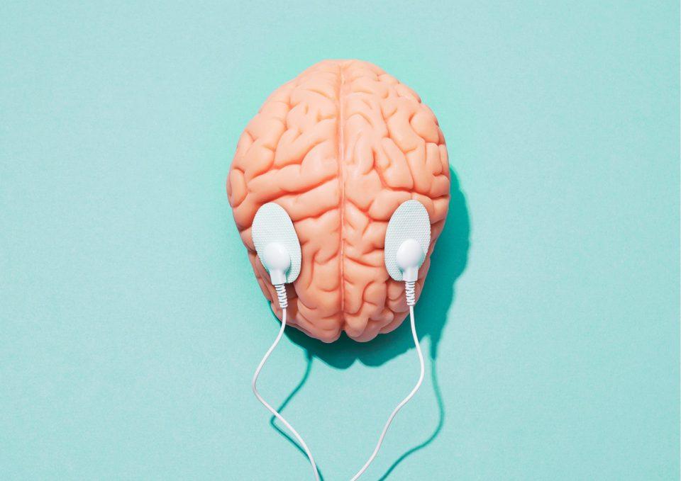 Oktober Gehirn Nerven Verbunden Pink Babyblau