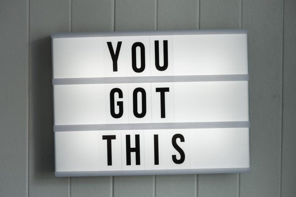 Gesundheitserreger You Got This Schild Shutterstock_GillianVann